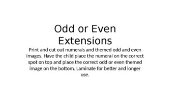 Odd and Even Extension