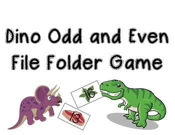 Odd and Even File Folder Game - Dino Theme
