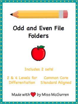 Odd and Even File Folders and Task Boxes