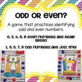 Odd & Even Numbers Game