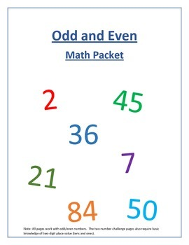 Odd and Even Math Packet