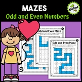 Odd and Even Mazes Number Sense