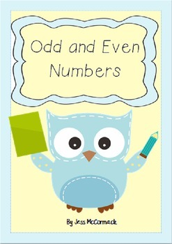 Odd and Even Number Activites with Odd Todd and Even Steven