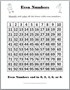 Odd or Even Worksheet | Loving Printable