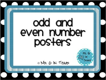 Odd and Even Number Posters