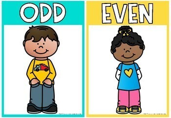 Odd and Even Number Posters {Rainbow Classroom Decor}