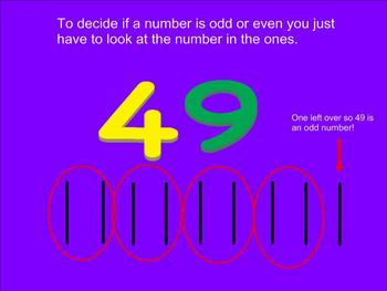 Odd and Even Number Smartboard Practice