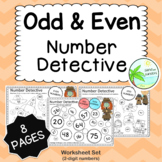 Odd and Even Number worksheets (8 page pack: 2-digit numbers)