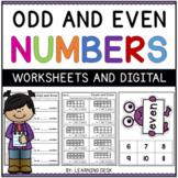 Odd and Even Numbers Worksheets-Distance Learning Packet First Grade