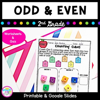 Odd and Even Numbers- 2nd grade Common Core 2.OA.C.3