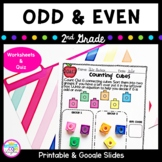 Odd and Even Numbers- 2nd grade 2.OA.C.3 Google Slides Distance Learning Pack