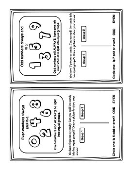 Odd and Even Numbers Activities and Independent Practice