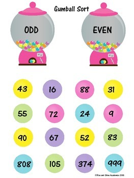 Odd and Even Numbers Candy Store