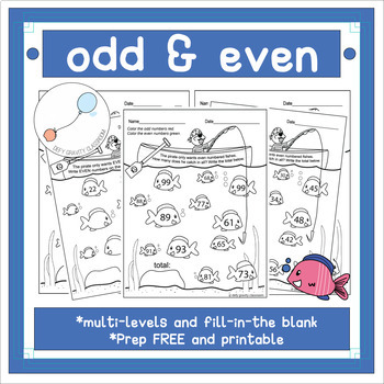 Odd And Even Numbers Coloring Worksheet Teaching Resources