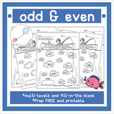 Odd and Even Numbers Color Worksheet - Prep Free - 1st & 2