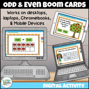 Odd and Even Numbers Digital Boom Cards