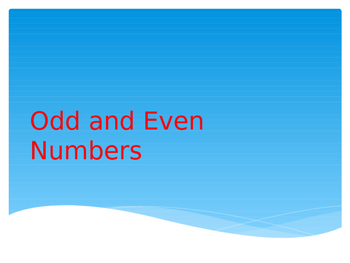 Odd and Even Numbers Explicit Teaching Warm-Up ACMNA035