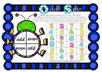 Odd and Even Numbers FREEBIE
