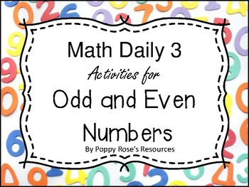 Odd and Even Numbers - Math Daily 3