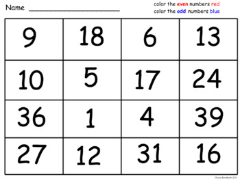Odd and Even Numbers Math SmartBoard Lesson for Primary Grades
