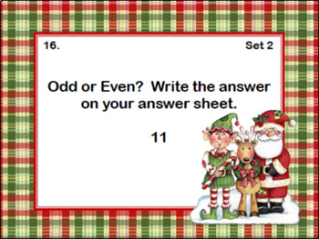 Odd and Even Numbers-Math Task Cards- Grade 2- Elves and Friends