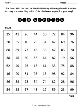 Odd and Even Numbers Mazes
