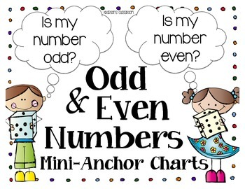 Odd and Even Numbers Mini-Anchor Chart & Sort Activity