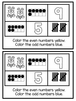Odd and Even Numbers - Number Sense