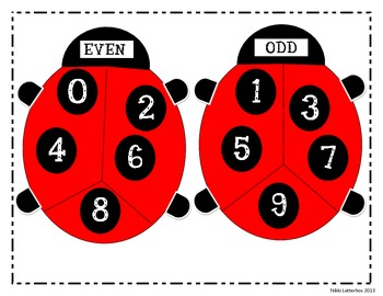 Odd and Even Numbers Poster