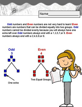 Odd and Even Numbers. Review. Worksheets.