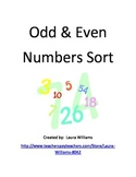 Odd and Even Numbers Sort