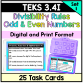 Odd and Even Numbers- TEKS 3.4I