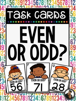 Odd and Even Numbers Task Cards