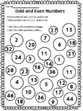 Odd and Even Numbers Worksheet - Distance Learning