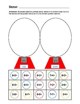 Odd and Even Numbers and Addition