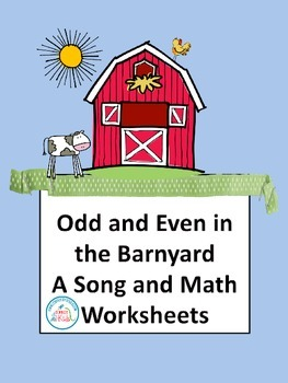 Math Center Spring Activities Odd and Even Number with a Math Song