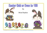 Odd and Even Numbers to 100 Easter Theme