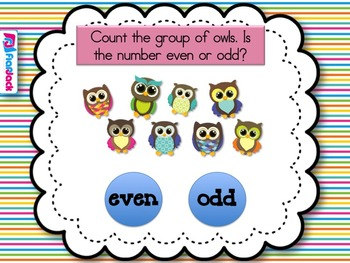 Odd and Even Owls Smart Board Game (CCSS.2.OA.C.3)