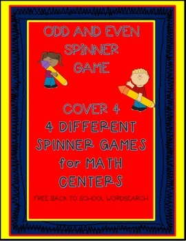Odd and Even Print & Play Math Center Game
