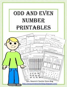 Odd and Even Printables