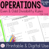 Odd and Even Relationship with Divisibility Rules
