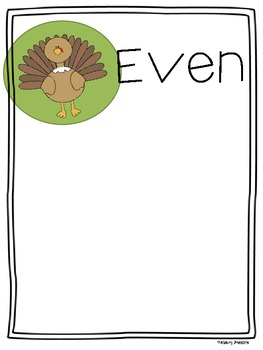Odd and Even Sort Thanksgiving Theme