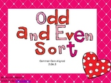 Odd and Even Sort-Valentine Themed-Common Core Aligned
