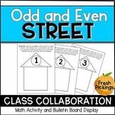 Odd and Even Street-  Math Art Activity & Hallway Display