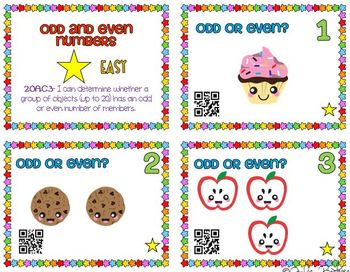 Odd and Even Task Cards with QR Codes