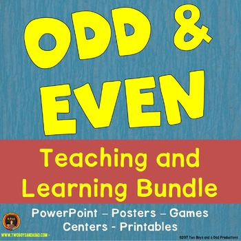 Odd and Even Teaching and Learning Bundle with PowerPoint, Games, Centers & More