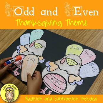 Odd and Even Thanksgiving Turkey Fall Holiday Addition and Subtraction Included
