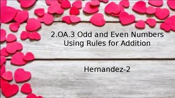 Odd and Even Using Addition rules to Create Equations