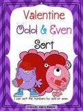 Odd and Even Valentine's Day Sort