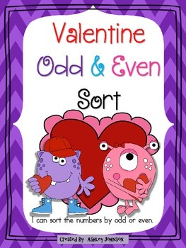 Odd and Even Valentine's Day Sort